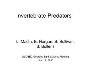 Invertebrate Predators