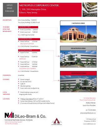 METROPLEX CORPORATE CENTER 1, 100, 200 Metroplex Drive Edison, New Jersey