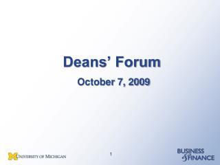 Deans' Forum