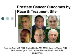 Prostate Cancer Outcomes by Race & Treatment Site