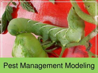 Pest Management Modeling