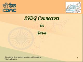 SSDG Connectors  in Java