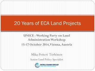 20 Years of ECA Land Projects