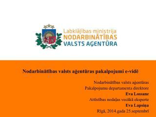 Nodarbinātības valsts aģentūras pakalpojumi e-vidē