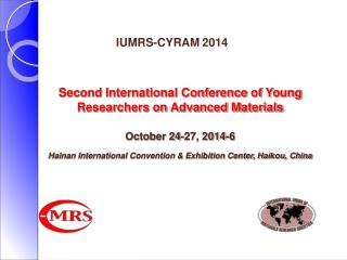 IUMRS-CYRAM 2014