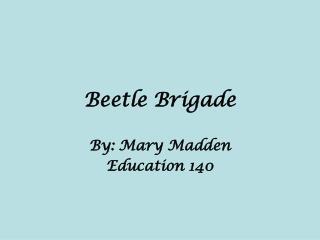 Beetle Brigade