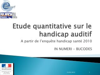 Etude quantitative sur le handicap auditif