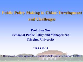 Public Policy Making in China: Development and Challenges