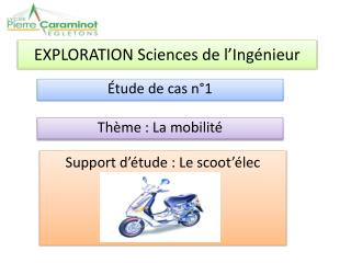 EXPLORATION Sciences de l Ing nieur