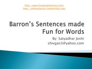 Barron s Sentences made Fun for Words