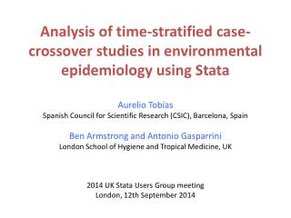 Analysis of time-stratified case-crossover studies in environmental epidemiology using Stata
