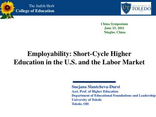 Employability: Short-Cycle Higher Education in the U.S. and the Labor Market