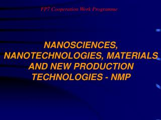 FP7 Cooperation Work Programme