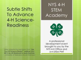 NYS 4-H STEM Academy