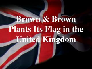 Brown & Brown  Plants Its Flag in the  United Kingdom