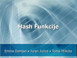 Hash Funkcije