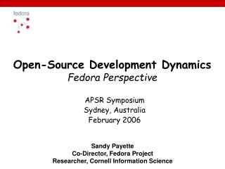 Open-Source Development Dynamics Fedora Perspective