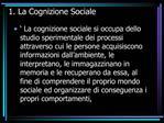 1. La Cognizione Sociale