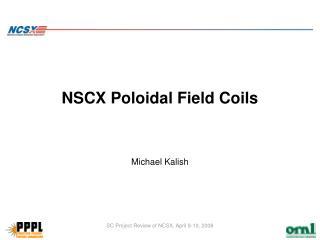NSCX Poloidal Field Coils