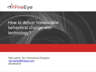 How to deliver measurable behavioral change with technology?