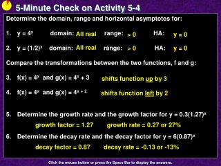 5-Minute Check on Activity  5-4