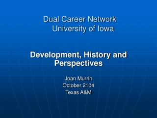 Dual Career Network    University of Iowa