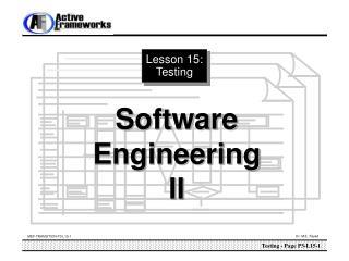 Lesson 15: Testing