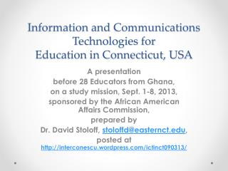 Information and Communications  Technologies for  Education in Connecticut, USA