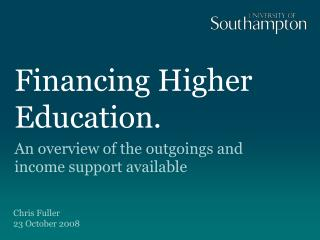 Financing Higher Education.