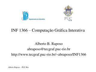 INF 1366 � Computa��o Gr�fica Interativa