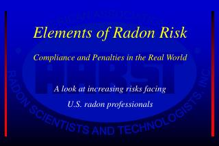 Elements of Radon Risk Compliance and Penalties in the Real World