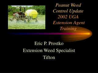 Peanut Weed  Control Update 2002 UGA  Extension Agent Training