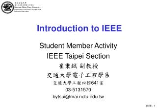 Introduction to IEEE