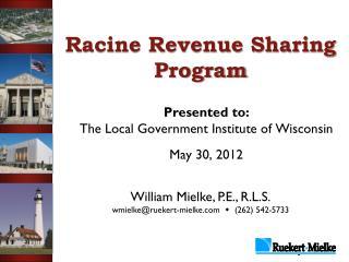 Racine Revenue Sharing Program