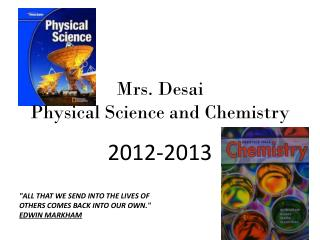 Mrs. Desai Physical Science and Chemistry