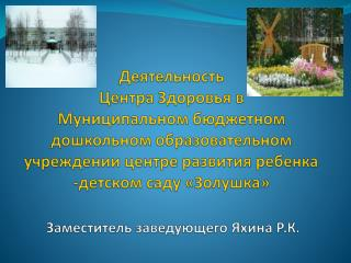 Нормативные документы, регулирующие деятельность Центра Здоровья:
