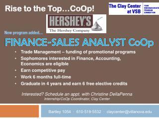 FINANCE-SALES ANALYST  CoOp