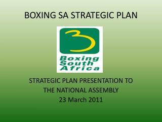 BOXING SA STRATEGIC PLAN