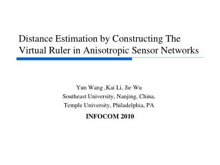 Distance Estimation by Constructing The Virtual Ruler in Anisotropic Sensor Networks