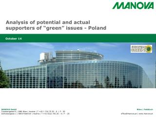 "Analysis of potential and actual supporters of ""green"" issues - Poland"