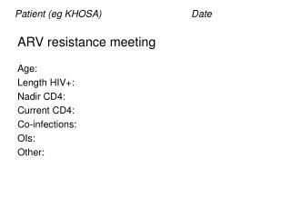 ARV resistance meeting