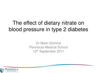 The effect of dietary nitrate on blood pressure in type 2 diabetes