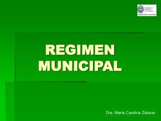 REGIMEN MUNICIPAL