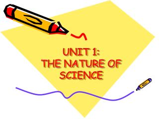 UNIT 1:   THE NATURE OF SCIENCE