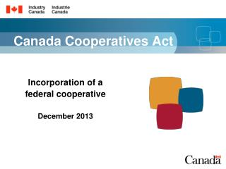 Canada Cooperatives Act