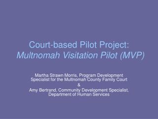 Court-based Pilot Project: Multnomah Visitation Pilot (MVP)