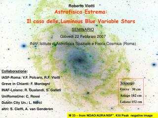 Astrofisica Estrema: Il caso delle Luminous Blue Variable Stars