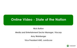 Online Video - State of the Nation