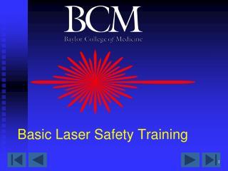 Basic Laser Safety Training