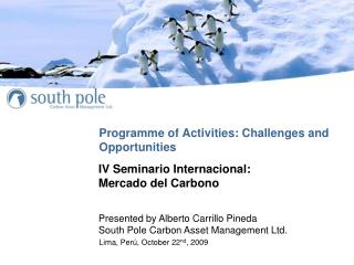 Programme of Activities: Challenges and Opportunities